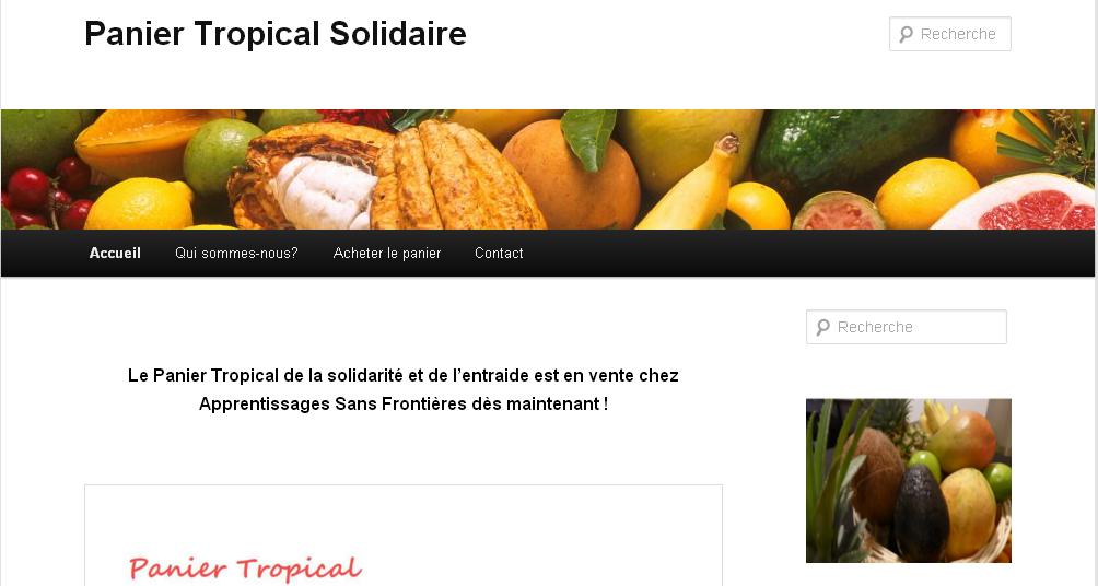 """Le projet ASF """"Panier Tropical"""" a son site internet !"""